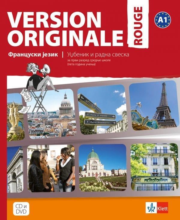 Version originale rouge – уџбеник и радна свеска за 1. разред гимназије