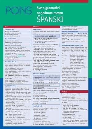 PONS Све о граматици на једном месту ШПАНСКИ